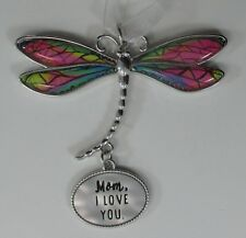 zzx Mom I love you Delightful Dragonfly Message Ornament