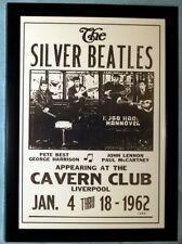 The Original Pete Best 'Silver' Beatles Cavern Poster A4 Framed Photo Print