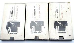 Lot (3) Mamiya C Plate Holder for Mamiya C Professional TLR camera  0566