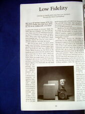 """REL Storm III Sub Base system subwoofer review """"Listener"""" magazine 2000"""