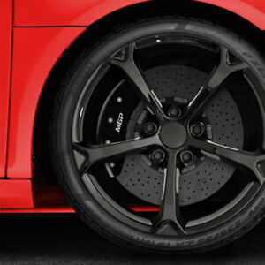 Front and Rear Black MGP Caliper Covers for 2020-2021 Kia Soul