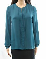 Laundry by Shelli Segal Women's Pleated-Front Chiffon Blouse Size 12