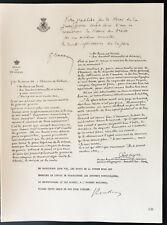 1926 - Lithographie citation Masson, Paul Segers, Renkin. Belgique guerre 14/18