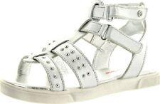 Naturino Girls 2049 Vitello Fashion Gladiator Sandal, White/white , Size EUR  28