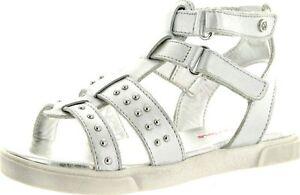 Naturino Girls 2049 Vitello Fashion Gladiator Sandal, White/white , Size EUR  30