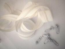 (0,60€/m) 3m Endlos Reißverschluss Meterware 5mm Spirale inkl.6 Zipper Weiß
