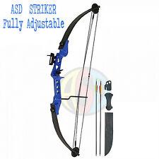 Tir à l'arc bleu striker lumière adulte/enfants composé nœud ensemble entièrement réglable