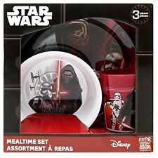 Disney Star Wars The Force Awakens 3 PC Plate Bowl Cup Melamine Dinner Set