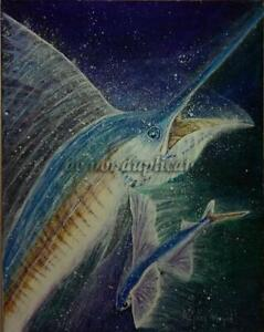 """UNTITLED SAILFISH #31"" TRIPLEMGALLERY MICHAEL MEYER ORIGINAL 11X14"