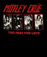MOTLEY CRUE cd lgo '81 GROUP PHOTOS Official SHIRT SMALL New too fast for love
