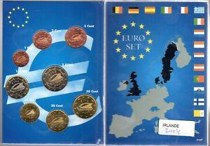 EURO IRLANDE  SERIE COMPLETE 1 C A 2 € NEUVE
