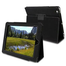 PU leather Folding Folio Hard Case Smart Cover Stand for Apple iPad 2 3 4 Black