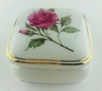 """Vintage Avon Porcelain """"Happy Holidays"""" Musical Trinket Box 1987 Collectable"""