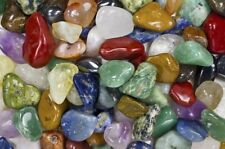 "Fantasia: 5 lbs Brazilian Tumbled Stone Mix - 1""-1.5"" Avg. - Medium Rocks"