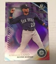 2017 Bowman Platinum #42 ROBINSON CANO Purple Refractor 147/250 Seattle Mariners