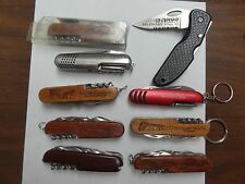 KNIFE LOT SET OF 9 DIFFERENT OUTER BANKS DELAWARE MARYLAND AMISH COUNTRY GETTYSB
