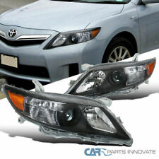 For 10-11 Toyota Camry Black Projector Headlights Head Lights Lamps Left+Right