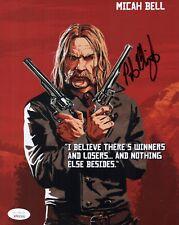 PETER BLOMQUIST Signed MICAH BELL 8x10 Photo Red Dead Redemption 2 JSA COA