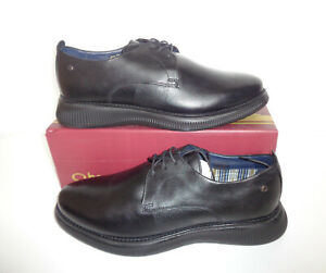 Base London Mens Black Leather Casual Formal Shoes New RRP £75 UK Sizes 7-12