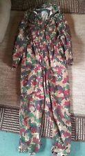 RARE GERMAN Military Swiss Flight/Jump Suit 44/46R L/XL. riri zippers. M6 Spilag