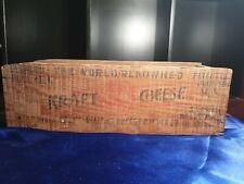 Kraft Cheese Vintage Wooden Box Australia Kraft foods 5lbs net GC