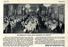 Vom Winterfest des Vereins der Berliner Buchhändler Das Festbankett von 1913