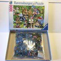 Ravensburger Bird Village 1000 Piece Jigsaw Puzzle 27 x 19 Very Good Complete