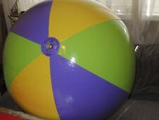 Großer LILA GRÜN GELBER Wasserball inflatable Beach Ball 36