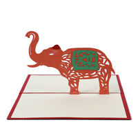 Elephant Invitations Greeting Card 3D Cards for All Occasions Birthday