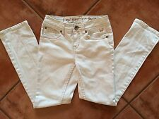☀️ Girls JUSTICE Premium Jeans White Cream Wash Denim Simply Low 10R