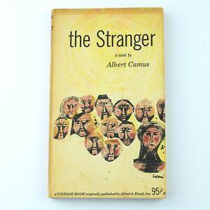 ALBERT CAMUS : The Stranger (1954 Vintage Paperback Edition, 1956 4th Printing)