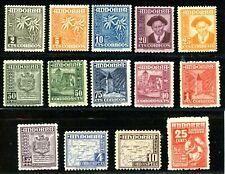 ANDORRA SPANISH 1948-1963, SCENIC SET MINT, #37-49 PLUS E5, MINT OG LH