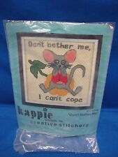 NEW SEALED Stitchery kit 1977 Kappie Originals DON'T BOTHER ME, CAN'T COPE K706
