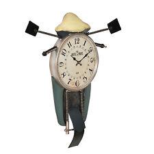 [en.casa]® Horloge murale moto front métal déco design horloge analogue