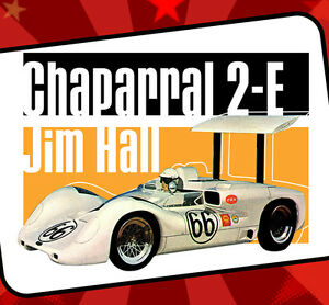 Chaparral Jim Hall Can Am Racing Vintage Style T-Shirt Big Wing Road Race 66