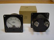 Petter  75A AC Analogue current panel ammeter Meter Vintage 1978 Bakelite NEW