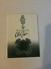 HARRY POTTER COSTUME / AUTOGRAPH CARD SIGNED BY ALEX PALMER VERY RARE SDCC 2010