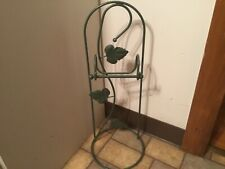 Metal Bathroom Stand, Freestanding Toilet Paper Stand Green Ivy Leaf Pattern New