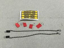 1/64 DCP HEAVY HAUL LOWBOY ACCESSORIES SET  CHAINS, FLAGS & OVERSIZED LOAD DECAL