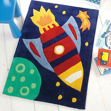 Flair Rugs Kiddy Play Rocket Childrens Rug Multi 70 X 100 Cm