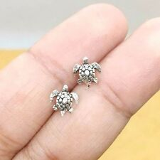 925 Sterling Silver Tiny Turtle Earrings Cartilage For Women Ear Stud Helix Post
