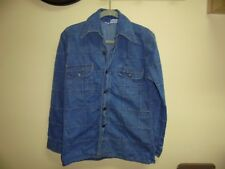 34/Xs Vintage 70s Zayre Denim Shirt Coat/Jacket Matt Andrews Patchwork Worn Fade