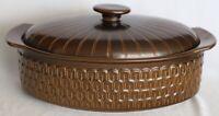 Vintage Retro Wedgwood Pennine Stoneware Casserole Dish + Lid 2.4L