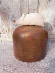 Ancienne grande forme à chapeau moule bois modiste chapelier atelier déco XIX è