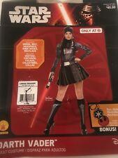 Star Wars Darth Vader Costume Halloween Woman Large Dress Size (14-16)