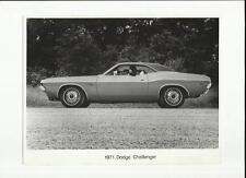 "1971 DODGE CHALLENGER  PRESS PHOTO  ""SALES BROCHURE"""