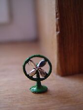 DOLL HOUSE SCALE SMALL 'HAND PAINTED' METAL FAN !! KEEP COOL THIS SUMMER TIME !!