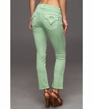 Hudson Womens Beth Baby Boot Crop Jeans NWT Size 27 Soft Sage