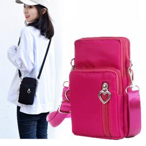 Women Mobile Phone Pouch Case Belt Purse Wallet Shoulder Bag Cross-body Mini