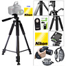 "60"" TITANIUM ALLOY TRIPOD + REMOTE +PRO GRIP FOR NIKON D3400 D5600 D3300 D5300"